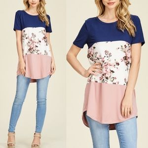 CHARLIE Floral Print Tunic Top